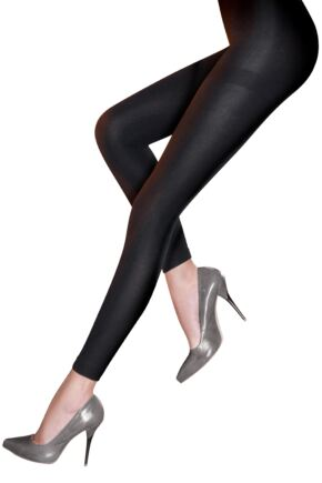 Ladies 1 Pair Pretty Polly 200 Denier Fleecy Opaque Footless Tights