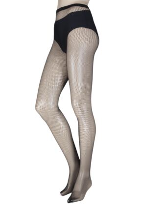 Ladies 1 Pair Elle Classic Fishnet Tights