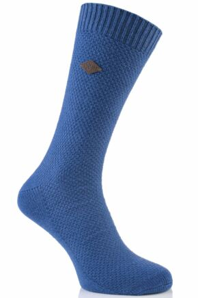 Mens 1 Pair Farah 1920 Waffle Design Cotton Socks 50% OFF