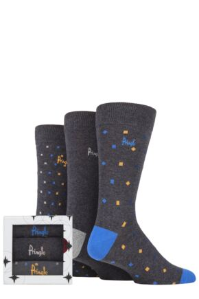 Mens 3 Pair Pringle Classic Gift Boxed Socks