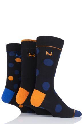 Mens 3 Pair Pringle Gift Boxed Dots Cotton Socks