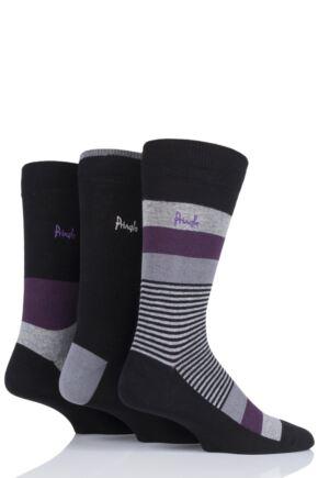 Mens 3 Pair Pringle Gift Boxed Stripe Cotton Socks
