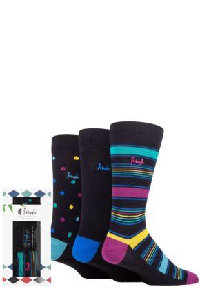 Mens 3 Pair Pringle Bamboo Patterned Gift Boxed Socks