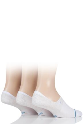 Mens 3 Pair Stance Gamut Combed Cotton Invisible Socks