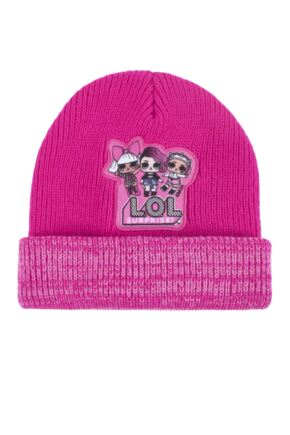 Girls 1 Pack SockShop L.O.L. Surprise! Knitted Double Layered Hat