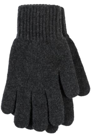 Ladies 1 Pair Great & British Knitwear Made In Scotland 100% Cashmere Plain Gloves In Grey Charcoal One Size