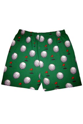 Mens 1 Pair Magic Boxer Shorts In Golf Pattern Golf L