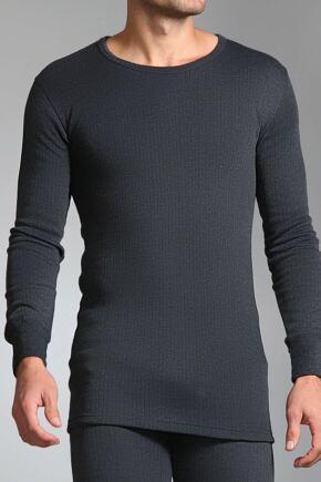 Mens SockShop Heat Holders Long Sleeved Thermal Vest Charcoal XXL