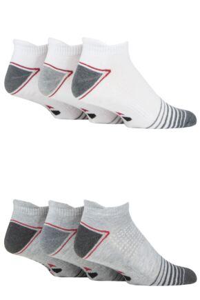 Mens 6 Pair GRANDSLAM Performance Trainer Socks