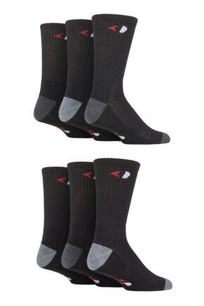Mens 6 Pair GRANDSLAM Performance Crew Sport Socks