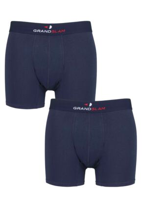 Mens 2 Pair GRANDSLAM Shaped Pouch Cotton Trunks
