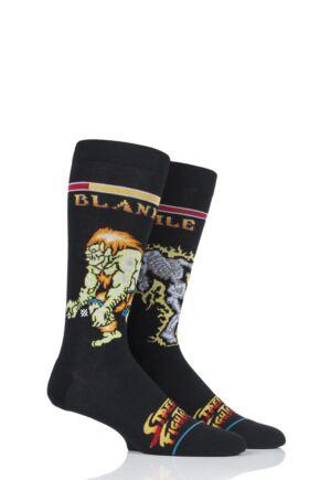 Mens 1 Pair Stance Street Fighter II Guile VS Blanka Cotton Socks