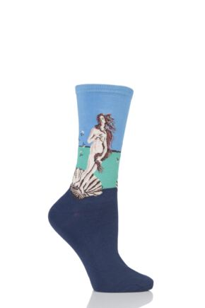 Ladies 1 Pair HotSox Artist Collection Birth of Venus Cotton Socks