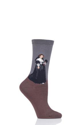 Ladies 1 Pair HotSox Artist Collection Oopjen Coppit Portrait - Rembrandt Cotton Socks