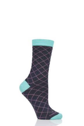 Ladies 1 Pair Healthy Seas Recycled Fishing Net Black Socks