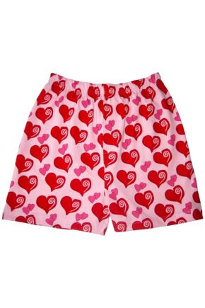 Mens 1 Pair Magic Boxer Shorts In Heart Pattern Heart L