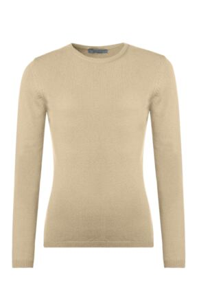 Ladies Great & British Knitwear 100% Lambswool Round Neck Jumper with Elbow Patch Detail Oatmeal Extra Large