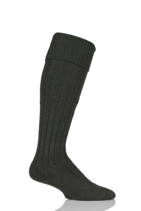 Mens 1 Pair HJ Hall Merino Wool Cushioned Foot Shooting Socks Olive 10-13