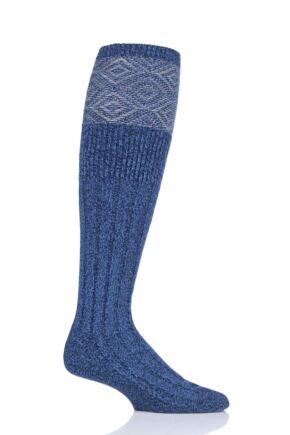 Mens 1 Pair HJ Hall UK Made Duncliffe Wool Shooting Knee High Socks