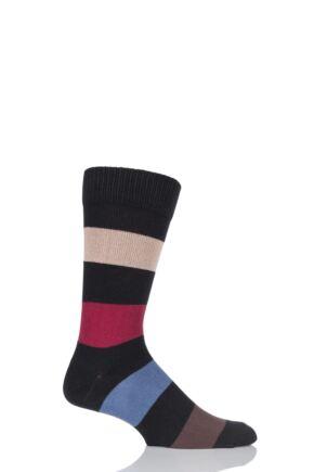 Mens 1 Pair HJ Hall Generation V Chunky Cotton Hayle Striped Socks