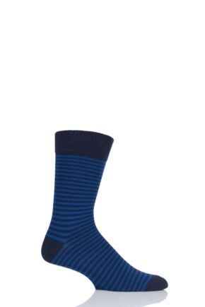 Mens 1 Pair HJ Hall Chunky Cotton Striped Socks