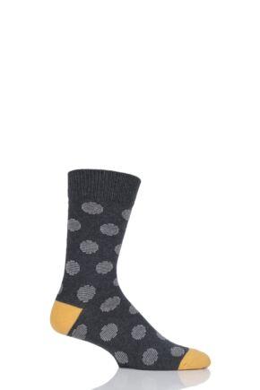 Mens 1 Pair HJ Hall Chunky Cotton Dots Socks