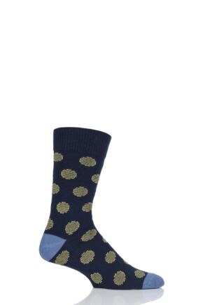 Mens 1 Pair HJ Hall Chunky Cotton Dots Socks