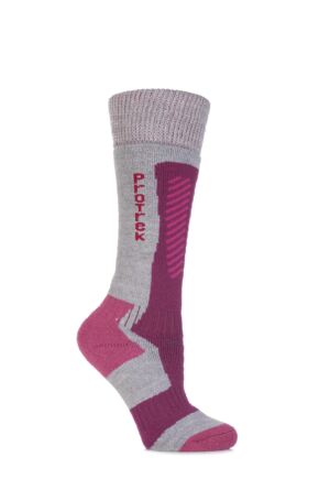 Ladies 1 Pair HJ Hall ProTrek Extreme Merino Wool Technical Heavy Weight Socks Light Grey 3-5.5