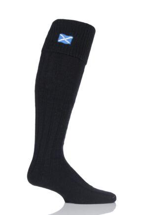 Mens 1 Pair HJ Hall Saltire Scottish Flag Wool Mix Kilt Socks