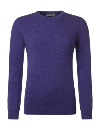 Ladies Great & British Knitwear 100% Lambswool Plain Round Neck Jumper Heliotrope D Large