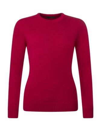 Ladies Great & British Knitwear 100% Lambswool Plain Round Neck Jumper Grenadine E Extra Large