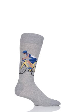 Mens 1 Pair HotSox Cyclist Cotton Socks