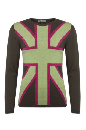 Ladies Great & British Knitwear 100% Lambswool Union Jack Jumper
