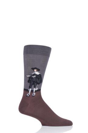 Mens 1 Pair HotSox Artist Collection Marten Soolmans Portrait - Rembrandt Cotton Socks