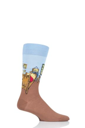 Mens 1 Pair HotSox Artist Collection Bedroom in Arles - Vincent Van Gogh Cotton Socks