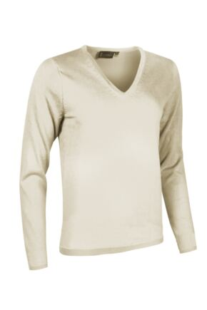 Ladies Great & British Knitwear Made In Scotland 100% Cashmere V Neck Whites and Reds
