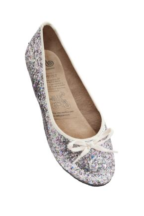 Ladies 1 Pair Rollasole Hundreds and Thousands After Party Shoes to Keep in Your Handbag