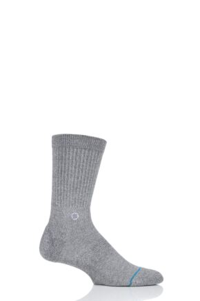 Mens 1 Pair Stance Icon Plain Cotton Socks