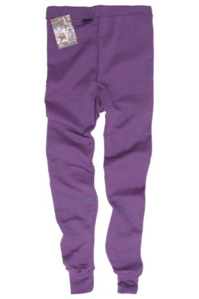 Kids 1 Pack Ussen Winter Thermal Long Johns Purple Marl 6-8