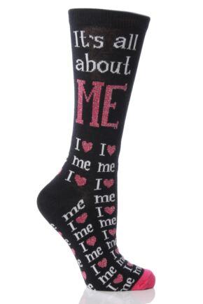 Ladies 1 Pair SockShop Dare To Wear It's All About Me Socks