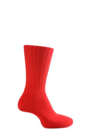 Mens 1 Pair J. Alex Swift Non Elastic Cuff Cotton Socks Blood Red