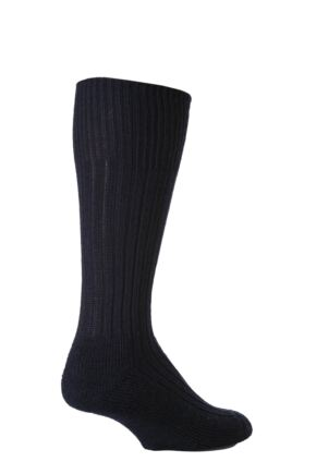 Mens 1 Pair SOCKSHOP of London Wool Rib Cushioned Boot Socks