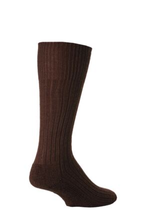 Mens 1 Pair J. Alex Swift Wool Rib Cushioned Boot Socks