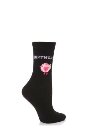 Ladies 1 Pair SockShop Birthday Dare To Wear - Birthday Chick