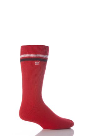 Mens 1 Pair Heat Holders For Football Fans Socks In Red, White and Black