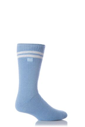 Mens 1 Pair Heat Holders For Football Fans Socks In Light Blue