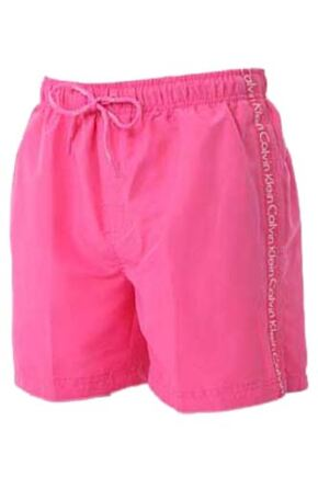 Mens 1 Pair Calvin Klein Logo Tape Drawstring Swim Shorts Pink XL