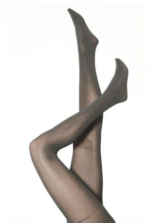 Ladies 1 Pair Falke Soft Merino Wool Tights Anthracite L