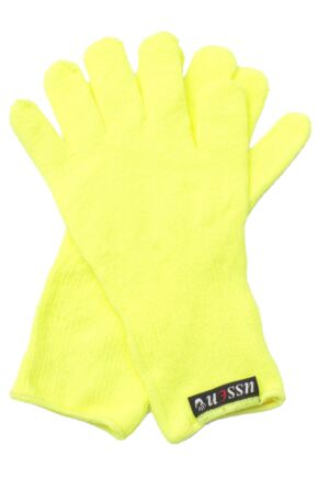 Mens 1 Pair Ussen Flight Coolmax Gloves Flo Yellow
