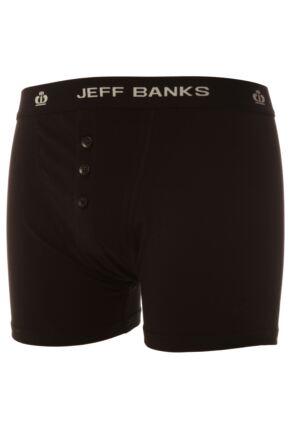 Mens Jeff Banks Leeds Buttoned* Cotton Boxer Shorts In 3 Colours